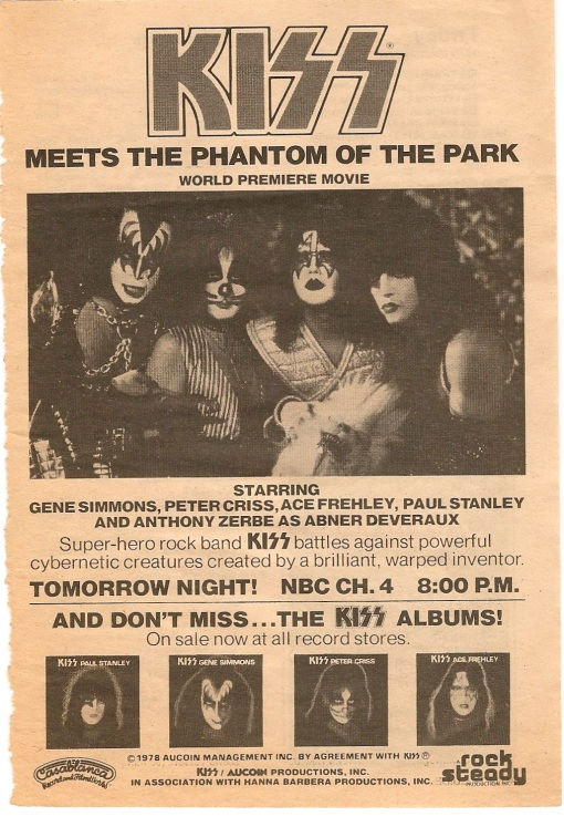 Also from TV Guide October 27, 1978. The rest of these were found in a beat up copy of Kiss-The Originals