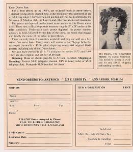 ArtRock, Doors offer, page 1, back