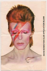 David Bowie, fan club, 1